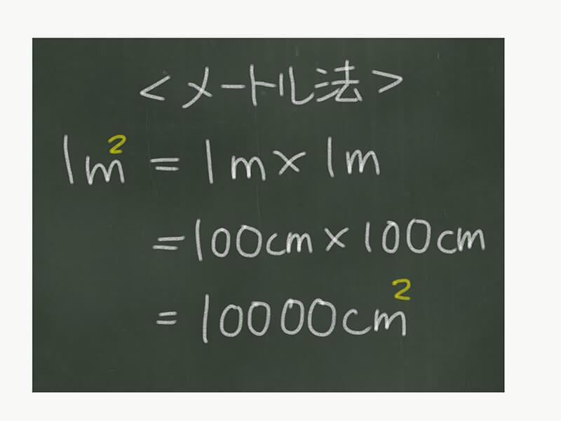 算数単位換算、面積とメートル法