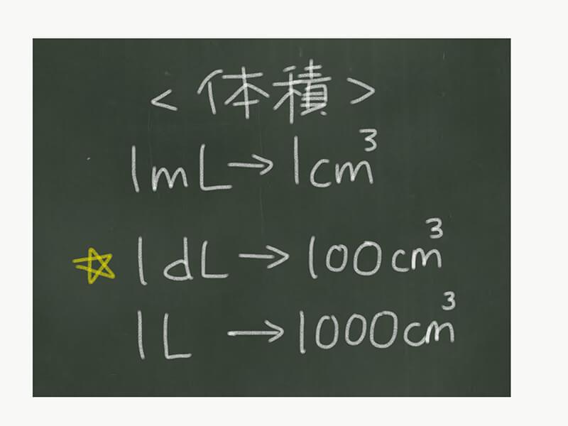 算数の単位換算、体積