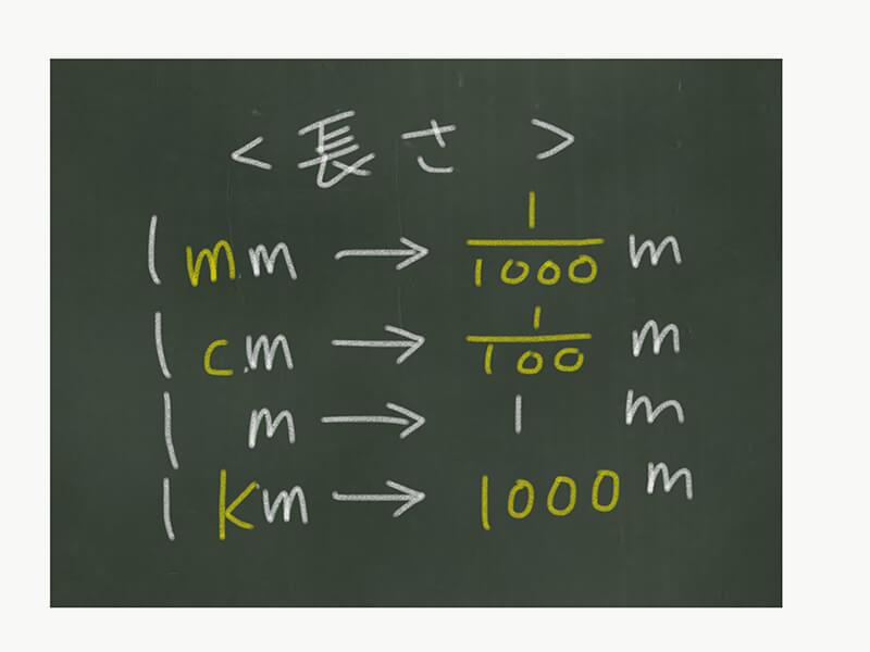 算数の単位換算、長さと重さ