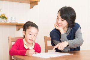 算数が苦手な子とママの勉強風景