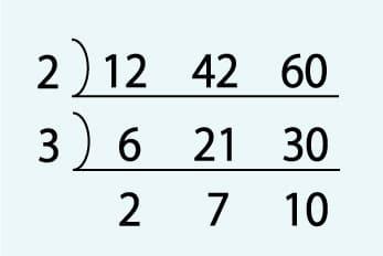 3つの数の最大公約数