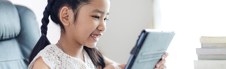 オンラインで学ぶ子ども